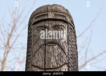 statue of the ancient Slavic god. Dubno, Ukraine - Stock Photo