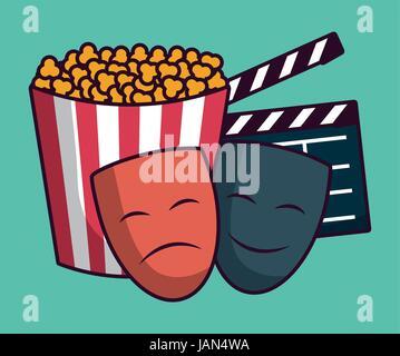 cinema related icons - Stock Photo