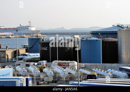 FOS-SUR-MER - FRANCE – MARCH 7, 2011: Company of storage for maritime forwarding - Stock Photo