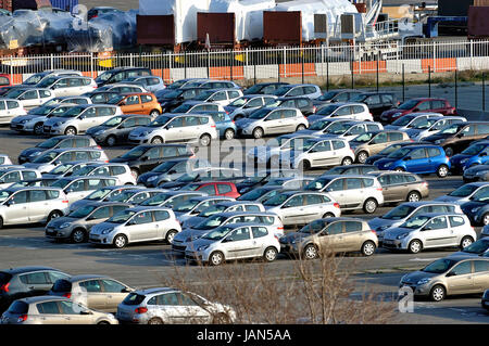 FOS-SUR-MER - FRANCE – MARCH 7, 2011: Company of storage of car for maritime forwarding - Stock Photo
