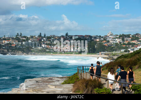 Bronte to Bondi Coastal walk, Eastern suburbs, Sydney, New South Wales, Australia. - Stock Photo