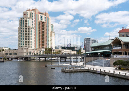 The Tampa Marriott Waterside hotel downtown Tampa Florida USA. April 2017 - Stock Photo