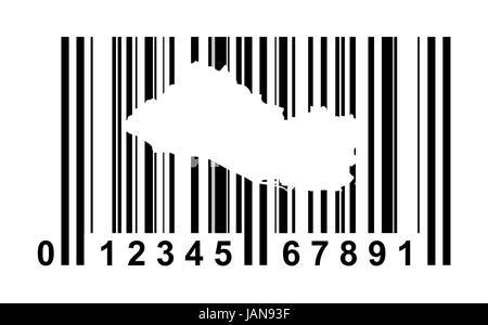 Honduras shopping bar code isolated on white background. - Stock Photo