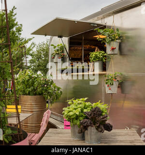 Image of garden festival plant truck. - Stock Photo