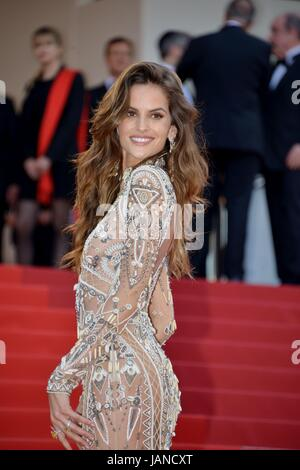 Izabel Goulart (dressed by Roberto Cavalli)  Arriving on the red carpet for the film 'The Beguiled'  70th Cannes - Stock Photo