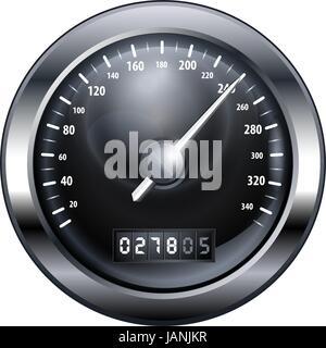 speedometr iconblack and white - Stock Photo