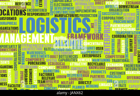 Logistics in SCM and DCM Business Concept - Stock Photo