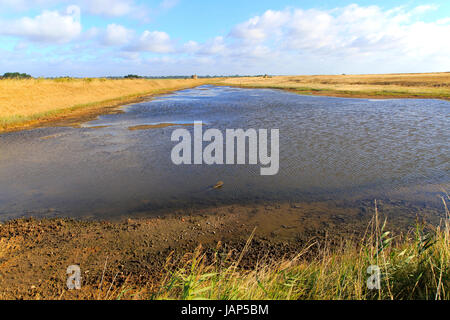 Lagoon and Martello Tower Y 1808 converted Duncan and Kristin Jackson, Alderton, Suffolk, England, UK - Eastern - Stock Photo