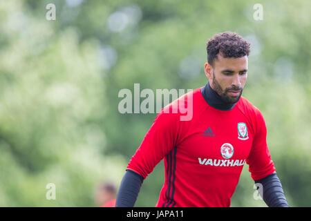 Hensol, Wales, Uk. 07th June, 2017. Hensol, Wales, UK, June 7th 2017. Hal Robson-Kanu during Wales national team - Stock Photo