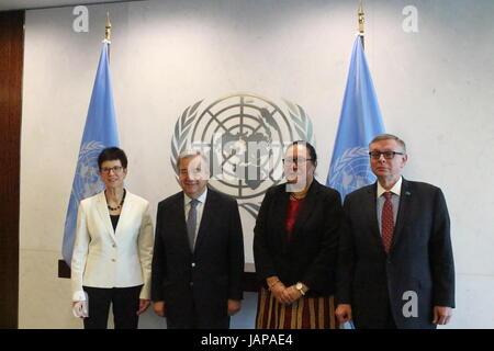 UN, New York, USA. 6th June, 2017. Credit: Matthew Russell Lee/Alamy Live News - Stock Photo