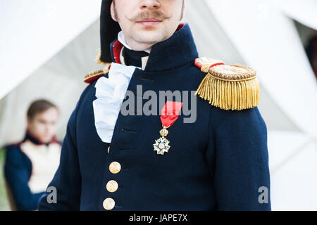 Russia, Moscow. Wednesday, June 7, 2017. International Times & Epochs opens in Moscow. Aboue 6000 reenactors from - Stock Photo