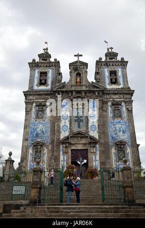 Igreja de Santo Ildefonso - Porto Portugal - Stock Photo