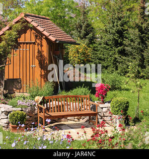 ... Seat In The Garden,seating In The Garden   Stock Photo