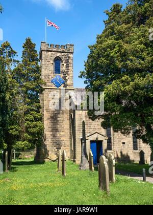 Holy Trinity Parish Church at Dacre Banks North Yorkshire England - Stock Photo