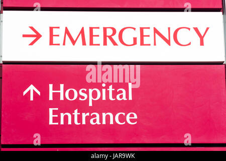 Emergency Entrance Local Hospital Urgent Health Care Building - Stock Photo