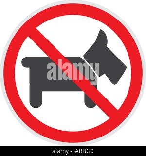 No dogs or animals sign vector depicting banned activities - Stock Photo