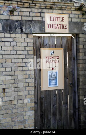 Padstow, Cornwall, UK - April 6th 2017: Entrance to the Kernow Players Little Theatre in Padstow - Stock Photo