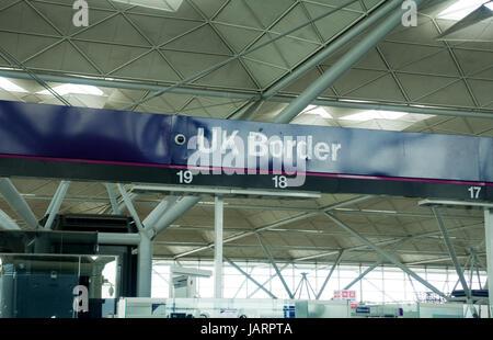Airport passport control - Stock Photo