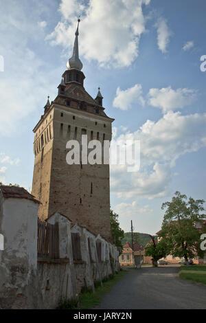 Fortified church of Hoghilag, Transylvania, Romania - Stock Photo