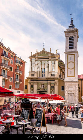 basilique-cathédrale sainte-marie et sainte-reparate de nice - Stock Photo