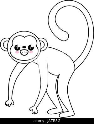 Cute Monkey Cartoon Kawaii