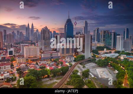 Kuala Lumpur. Cityscape image of Kuala Lumpur, Malaysia during sunrise. - Stock Photo
