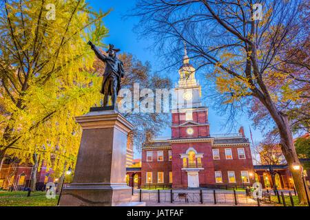 Independence Hall in Philadelphia, Pennsylvania, USA. - Stock Photo