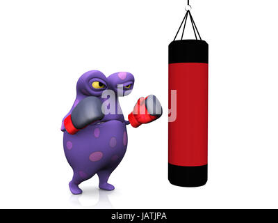 how to stop a free standing punching bag from moving