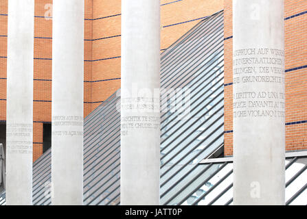 NUREMBERG, GERMANY - SEPTEMBER 21: Strasse der Menschenrechte, Way of Human Rights or Street of Human Rights with - Stock Photo