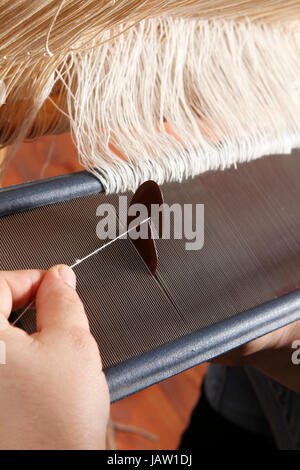 a particular of a handloom - Stock Photo