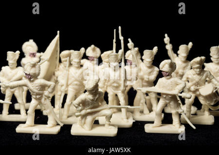 Collection of Tin and Vintage Toy Soldiers - Stock Photo