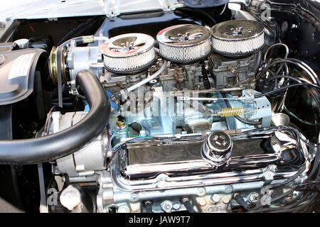 Tri Power Engine - Stock Photo