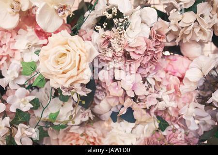 flower background pattern. Vintage toning image. Copyspace for design. - Stock Photo