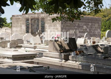 Cemetery Cementerio Cristobal Colon in Havana, Cuba - Stock Photo