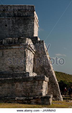 The Castillo at the Tulum ruins. - Stock Photo