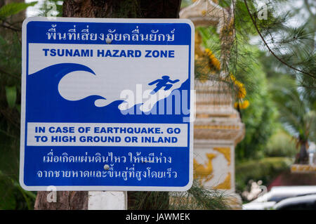 Tsunami Hazard Zone - Stock Photo