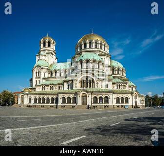 Cathedral Saint Alexandar Nevski in Sofia, Bulgaria Stock Photo