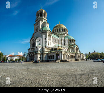Cathedral Saint Alexandar Nevski in Sofia, Bulgaria - Stock Photo