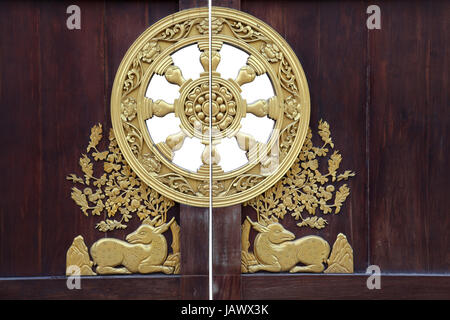 Detail Of A Golden Dragon At The Entrance Gate Of One Of