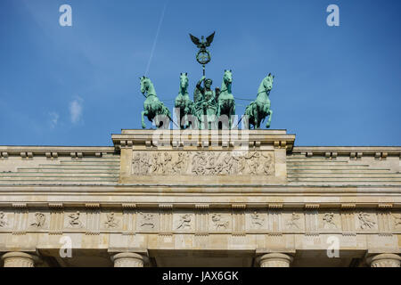Brandenburg Gate - Brandenburger Tor in Berlin, Germany is one of the most known sites in Berlin and popular tourist attraction
