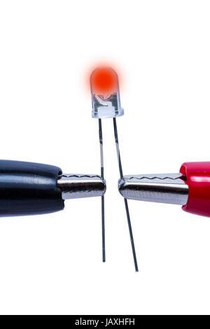 light-emitting diode led red - Stock Photo