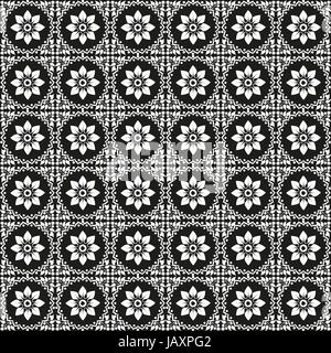 prepared in the eastern Ottoman style seamless pattern - Stock Photo