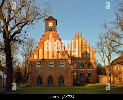 new and old abbey of kloster zinna - Stock Photo