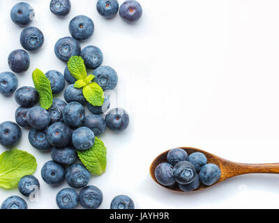 Blueberries isolated on white background - Stock Photo