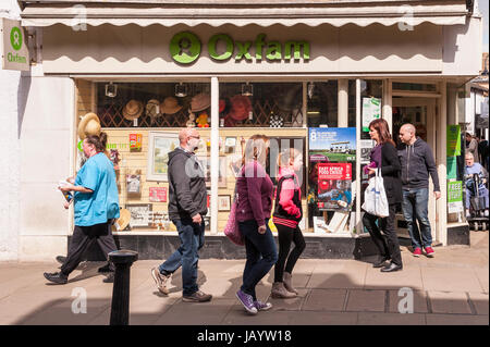The Oxfam charity shop store in Ely , Cambridgeshire , England , Britain , Uk - Stock Photo