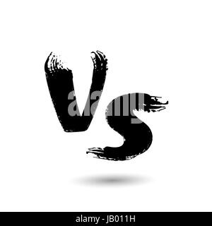 Versus Vector Sign. VS Letters Isolated On White Background. Competition Background. Fight Confrontation Design - Stock Photo