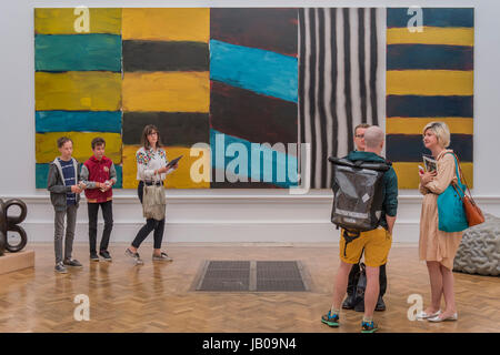 London, UK. 08th June, 2017. Full House by Sean Scully - The Royal Academy's 249th Summer Exhibition - co-ordinated - Stock Photo