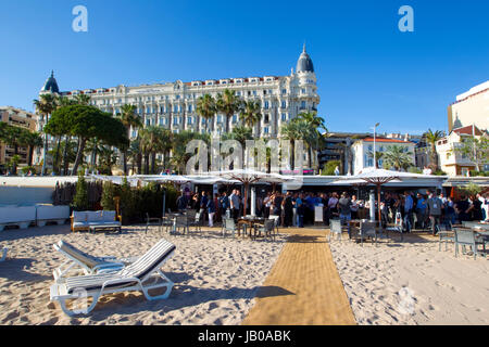 Cannes, France - June 07, 2017: Midem, the International B2B music market, IMAGEM Music Presentation | usage worldwide - Stock Photo