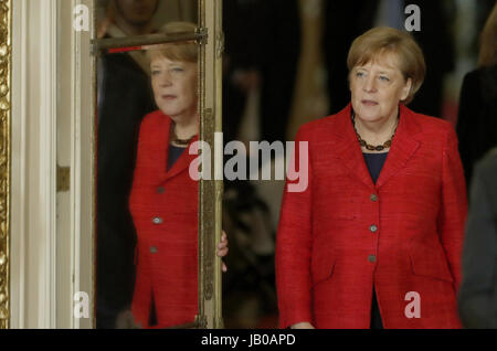 Buenos Aires, Argentina. 08th June, 2017. German Chancellor Angela Merkel arrives to meet with Argentinian President, - Stock Photo