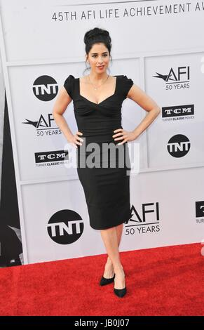 Los Angeles, CA, USA. 8th June, 2017. Sarah Silverman at arrivals for 2017 AFI Life Achievement Award Gala Honoring - Stock Photo